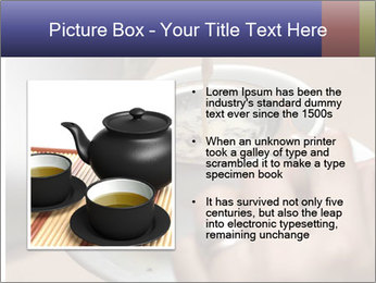 Woman with silver ring pouring tea with milk into cup PowerPoint Template - Slide 13
