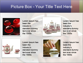 Woman with silver ring pouring tea with milk into cup PowerPoint Template - Slide 14