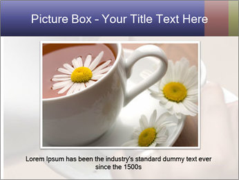 Woman with silver ring pouring tea with milk into cup PowerPoint Templates - Slide 16