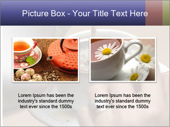 Woman with silver ring pouring tea with milk into cup PowerPoint Template - Slide 18