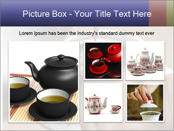 Woman with silver ring pouring tea with milk into cup PowerPoint Template - Slide 19