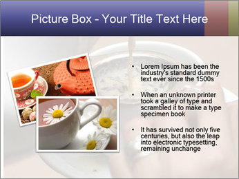 Woman with silver ring pouring tea with milk into cup PowerPoint Template - Slide 20