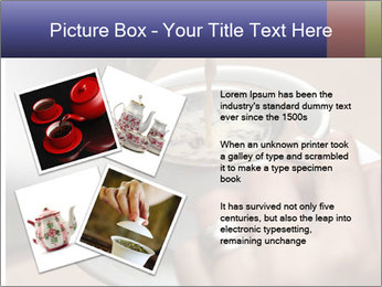 Woman with silver ring pouring tea with milk into cup PowerPoint Template - Slide 23