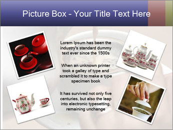 Woman with silver ring pouring tea with milk into cup PowerPoint Template - Slide 24