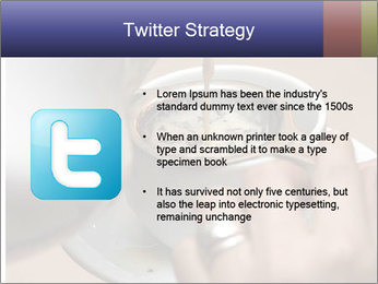 Woman with silver ring pouring tea with milk into cup PowerPoint Template - Slide 9