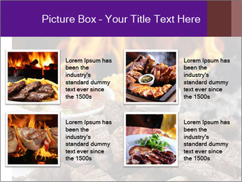 Dish of beef on fire background PowerPoint Templates - Slide 14