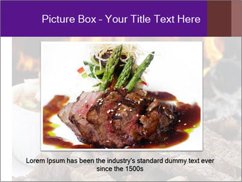 Dish of beef on fire background PowerPoint Templates - Slide 15