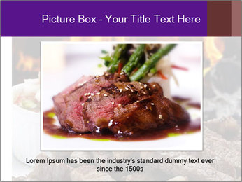 Dish of beef on fire background PowerPoint Templates - Slide 16