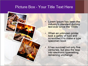 Dish of beef on fire background PowerPoint Templates - Slide 17