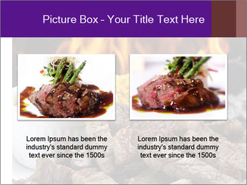 Dish of beef on fire background PowerPoint Templates - Slide 18