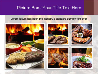 Dish of beef on fire background PowerPoint Templates - Slide 19