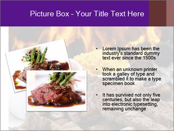 Dish of beef on fire background PowerPoint Templates - Slide 20