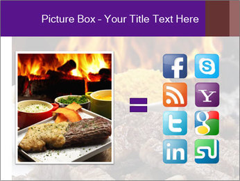 Dish of beef on fire background PowerPoint Templates - Slide 21
