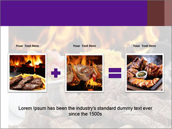 Dish of beef on fire background PowerPoint Templates - Slide 22