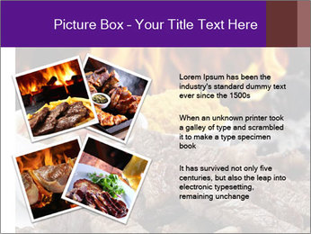 Dish of beef on fire background PowerPoint Templates - Slide 23