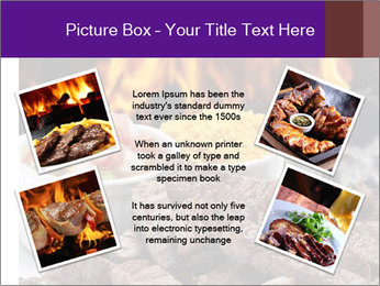 Dish of beef on fire background PowerPoint Templates - Slide 24