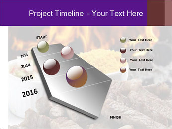 Dish of beef on fire background PowerPoint Templates - Slide 26