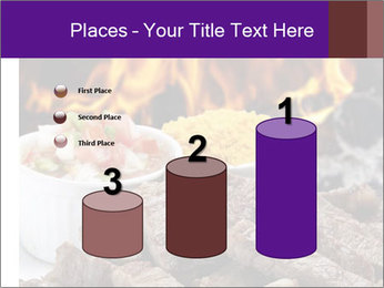 Dish of beef on fire background PowerPoint Templates - Slide 65