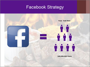 Dish of beef on fire background PowerPoint Templates - Slide 7