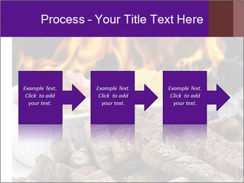 Dish of beef on fire background PowerPoint Templates - Slide 88