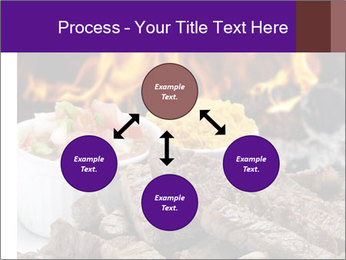 Dish of beef on fire background PowerPoint Templates - Slide 91