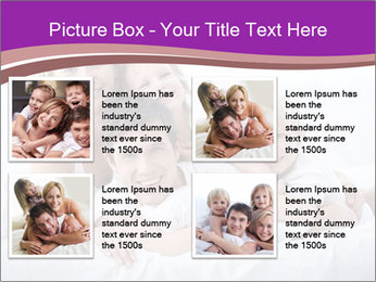 A young family with young children to bed in the bedroom PowerPoint Template - Slide 14