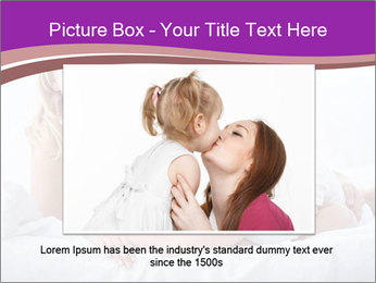 A young family with young children to bed in the bedroom PowerPoint Template - Slide 16