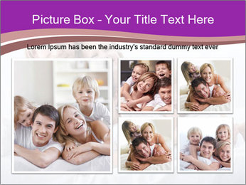 A young family with young children to bed in the bedroom PowerPoint Template - Slide 19