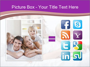 A young family with young children to bed in the bedroom PowerPoint Template - Slide 21