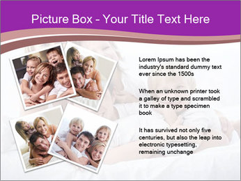 A young family with young children to bed in the bedroom PowerPoint Template - Slide 23