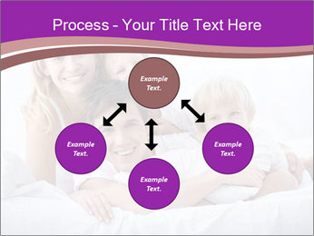 A young family with young children to bed in the bedroom PowerPoint Templates - Slide 91
