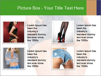 Sexy woman body in jean shorts PowerPoint Templates - Slide 14