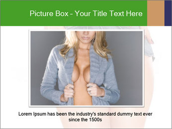 Sexy woman body in jean shorts PowerPoint Templates - Slide 15