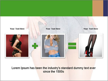 Sexy woman body in jean shorts PowerPoint Templates - Slide 22