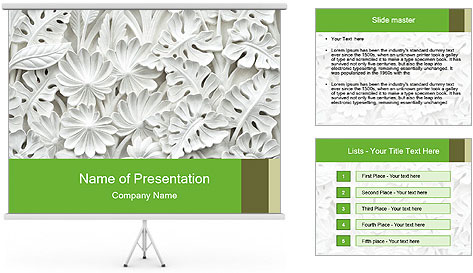 Floral Decorative Carve PowerPoint Template