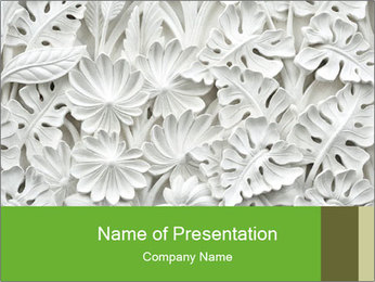 Floral Decorative Carve PowerPoint Template - Slide 1