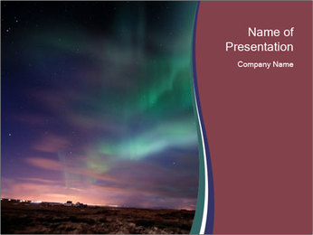 North Twilight PowerPoint Template - Slide 1