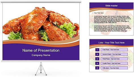 Chicken Appetizer PowerPoint Template