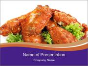 Chicken Appetizer PowerPoint Templates
