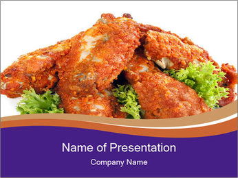 Chicken Appetizer PowerPoint Template - Slide 1