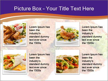 Chicken Appetizer PowerPoint Templates - Slide 14