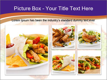 Chicken Appetizer PowerPoint Templates - Slide 19