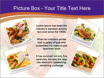 Chicken Appetizer PowerPoint Templates - Slide 24