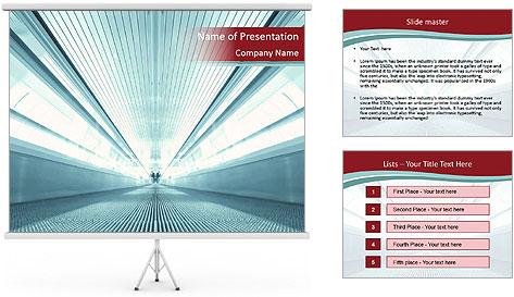 Bright Blue Light PowerPoint Template