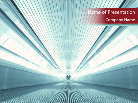 Bright Blue Light PowerPoint Template