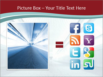 Bright Blue Light PowerPoint Template - Slide 21