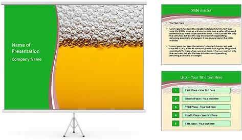 Golden Beer PowerPoint Template