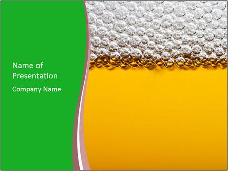 Golden Beer PowerPoint Templates