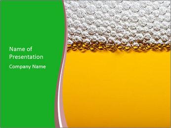 Golden Beer PowerPoint Template - Slide 1