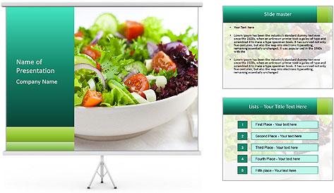 Veg Salad PowerPoint Template